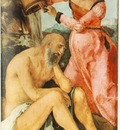 DURER JOB AND HIS WIFE,1504, STADELSCHES KUNSTINSTITUT, FRAN