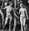 DURER ADAM AND EVE,1504, ENGRAVING