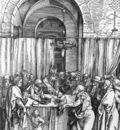 DURER REFUSAL OF JOACHIMS OFFER,1502 03, WOODCUT