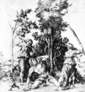 DURER THE DEATH OF ORPHEUS,1494, ENGRAVING