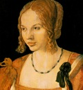 DURER PORTRAIT OF A YOUNG VENETIAN WOMAN,1505, KUNSTHITORISC