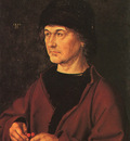DURER PORTRAIT OF THE ARTISTS FATHER,1490, UFFIZI