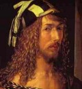 Albrecht Durer Self Portrait at 26  Detail