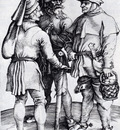 Durer Three Peasants In Conversation