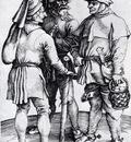 Durer Three Peasants In Conversation