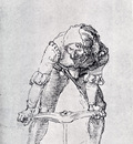 Durer Young Man Leaning Forward And Working With A Large Drill