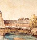 ls Durero 10 La pasarela en la calle del mercado de abastos de Nuremberg
