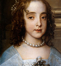 Dyck van Antoon Detail Willem II and princes Mary Sun