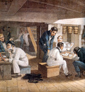 MPA Augustus Earle Midshipmens Quarters on board a ship of war, 1820 [ L ] sqs