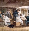 MPA Augustus Earle Midshipmens Quarters on board a ship of war, 1820 [ L ] sqs