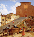 Eckersberg Christofer Steps leading to Santa Maria Ro