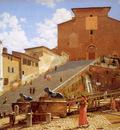 Eckersberg Christofer Steps leading to Santa Maria Ro