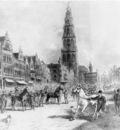 Eerelman Otto Study for horsefair on Grote Markt Sun