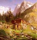 Engelhardt Georg An Alpine Mill House
