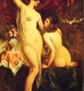 Etty William Two Nudes In An Interior