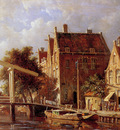 Eversen Adrianus View on the Baan canal Sun