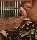 Eyck Jan van The Ghent Altarpiece Angels Playing Music detail