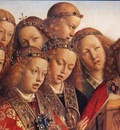 eyck jan van the ghent altarpiece singing angels detail