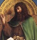 Eyck Jan van The Ghent Altarpiece St John the Baptist detail