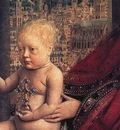 eyck jan van the virgin of chancellor rolin detail