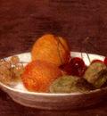 Fantin Latour Henri A Bowl Of Fruit