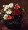 Fantin Latour Henri Flowers In A Clay Pot