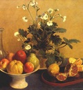 fantin latour flowers compotier and carafe