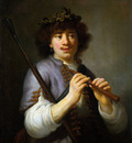 Flinck Govert Rembrandt as shepherd Sun