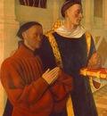 FOUQUET ETIENNE CHEVALIER AND HIS PATRON SAINT STEFANUS , B