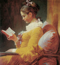 Fragonard Jean Honore Young girl reading