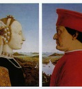 Piero della Francesca Left Portrait of Battista Sforza, Duc