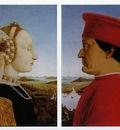 Piero della Francesca Left Portrait of Battista Sforza, Duc
