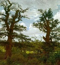 Landscape with Oak Trees and a Hunter CGF