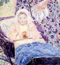 frieseke baby in pram c1915