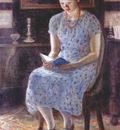 frieseke blue girl reading