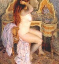 frieseke nude seated at her dressing table
