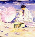 frieseke on the beach in corsica c1913