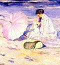 frieseke on the beach in corsica c1913