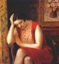 frieseke portrait of a girl pensive model c1930