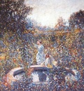 frieseke the blue garden c1912