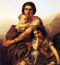 Gallait Louis A gypsy with two children Sun