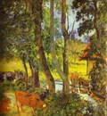 Gauguin Cattle Drinking
