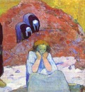 Gauguin Harvesting Of Grapes At Arles