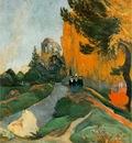 Gauguin Les Alyscamps, Arles, 1888, 91x72 cm, Musee dOrasy,