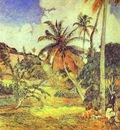 Gauguin Palm Trees On Martinique