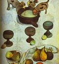 Gauguin Still Life With Three Puppies