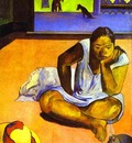 Gauguin Te Faaturuma Brooding Woman