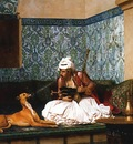 Arnaut blowing Smoke at the Nose of his Dog