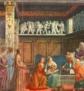 GHIRLANDAIO BIRTH OF MARY, CAPPELLA TORNABUONI, S MARIA NOVE