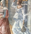 GHIRLANDAIO BIRTH OF ST JOHN THE BAPTIST DETAIL , CAPPELLA
